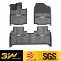 Car floor mats For Honda Fit with 3w Customized Special tpe,black