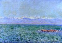 canvas art The Sea and the Alps Claude Monet reproduction Paintings Handmade High Quality