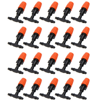 50pcs micro garden lawn water spray misting nozzle sprinkler irrigation system plant waterers garden irrigation drip head 20pcs Micro Drip Irrigation System Nozzle Water Control Sprayer Plant Self Garden Mist Sprinkler With Hose Connector