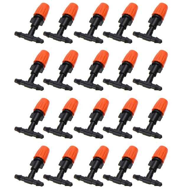 20pcs Micro Drip Irrigation System Nozzle Water Control Sprayer Plant Self Garden Mist Sprinkler With Hose Connector