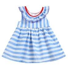 6d2328ca23b86 Enfant en bas âge enfants bébé filles mouche manches volants rayures rubans arc  robes d été robe pour filles bébé robe vêtements.