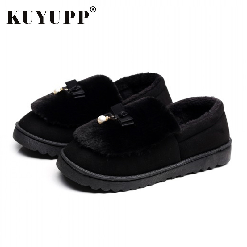 Warm Flock Women Home Slippers Winter Cute Indoor House Shoes Casual Plush Flat Women Shoes Soft Bottom Female Footwear DX1048 new 2017 house shoes cute happy big feet style giant toe footwear winter warm plush slippers soft unisex indoor shoes