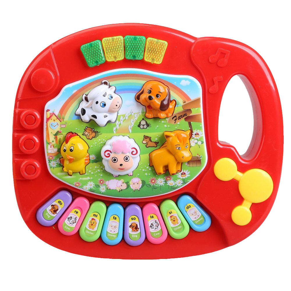 Baby Kids Musical Educational Piano Animal Farm Developmental Music Toy Educational KIDS Toy Random Color