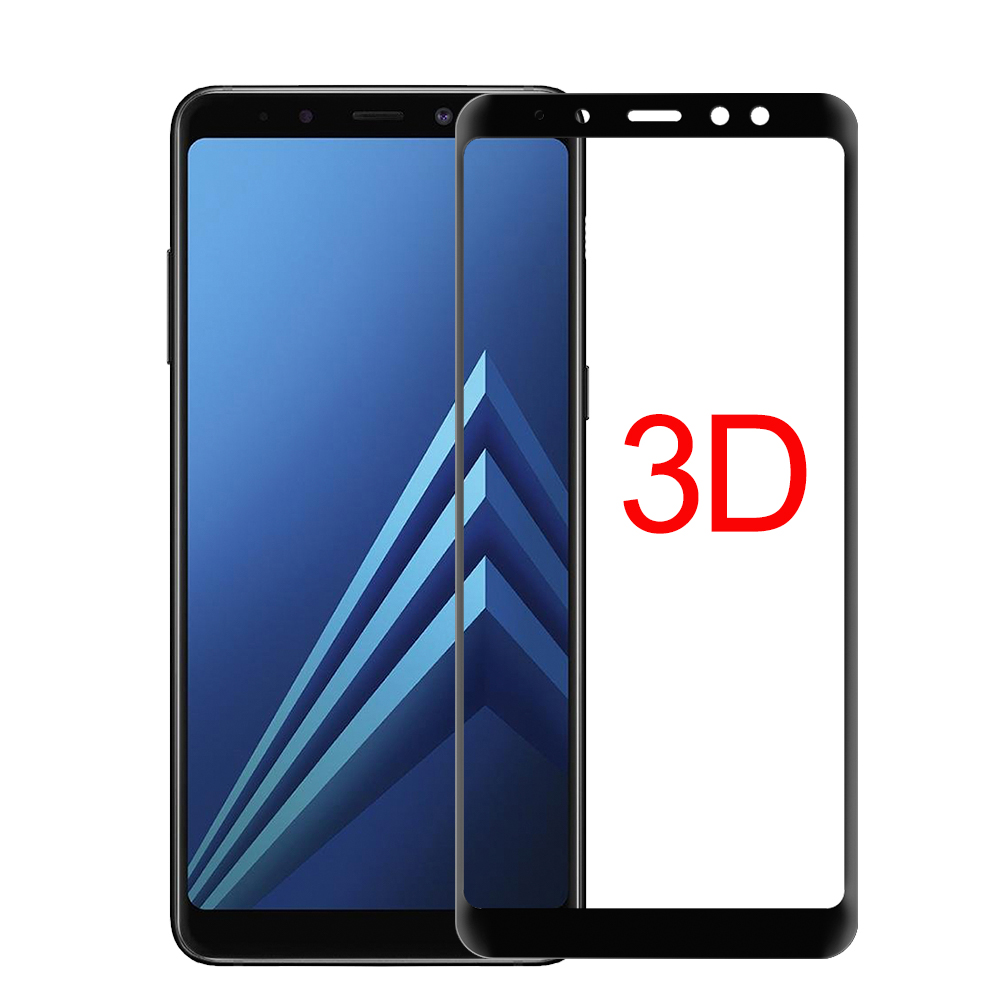 for samsung galaxy A3 A5 A7 A8 PLUS screen protector J3 J5 J7 pro 2017 2018 tempered glass 3D full cover case accessaries