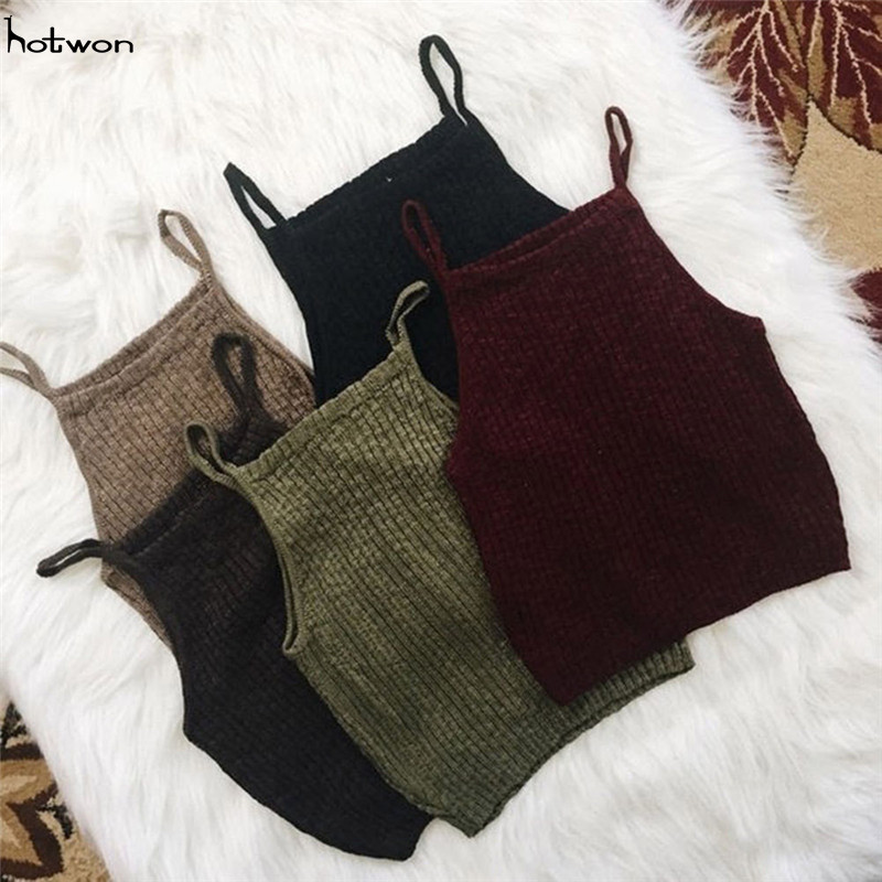 New Hot Sale Fashion Women Knitwear Sleeveless Tops Shirt Blouse Casual Crop Tops T-Shirts(China)
