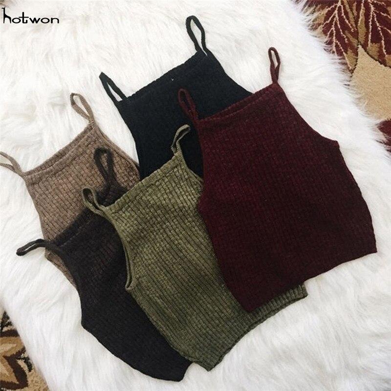 סריגי נשים אופנה חמה מכירה חדשות חולצות יבול מקרית חולצות ללא שרוולים חולצות טריקו חולצה