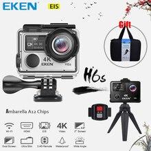 Mini Kamera EKEN H6s Utral HD 4 Karat Video EIS Bild stabilisierung Ambarella A12 Chip Wifi Wasserdichte 14MP Sony Sensor Action kamera