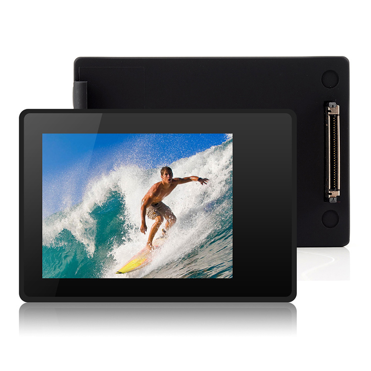 External LCD Screen Monitor Display with Waterproof Protective Backdoor Shell for GoPro Hero 4/3+ P0022580 aputure digital 7inch lcd field video monitor v screen vs 1 finehd field monitor accepts hdmi av for dslr