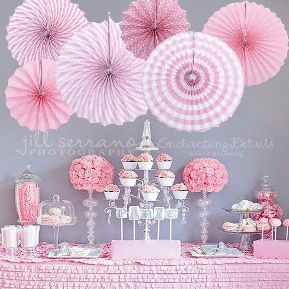 Hanging Paper Fan Tissue Paper Decorative Fan Pompom Flower Wedding Bridal Shower Birthday Party Hanging Decoration Centerpieces