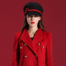 Women Winter Hats classical Dress Wool Felt Hat Natural 100% Wool with Little Cute Flower 2014 New Fashion casacos femininos