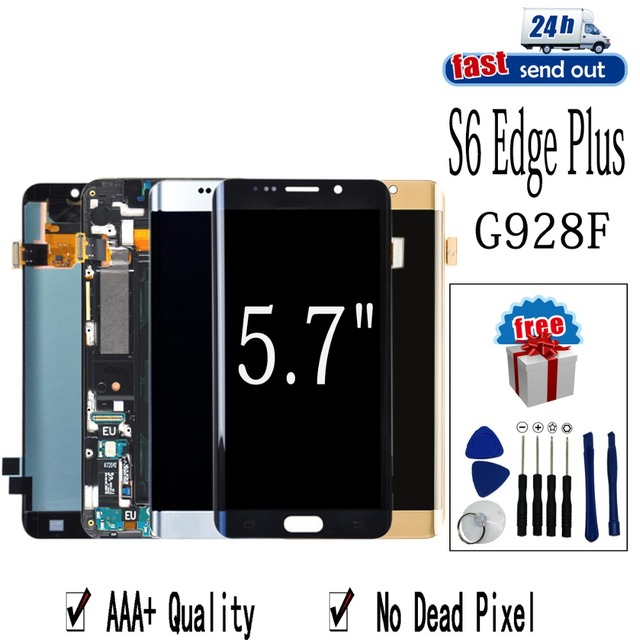 """5.7"""" AMOLED LCD For SAMSUNG Galaxy S6 edge Plus G928 LCD Display G928F Touch Screen Tested Digitizer Assembly"""