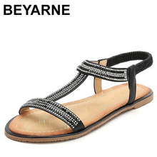 BEYARNE Summer Women Casual Flats Gladiator Sandals