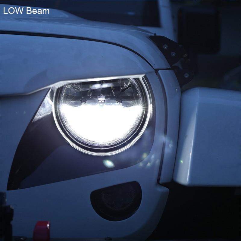 FADUIES 1 Pair 7 Inch Hitam Putaran 36 W LED Lampu dengan Tinggi - Lampu mobil - Foto 4