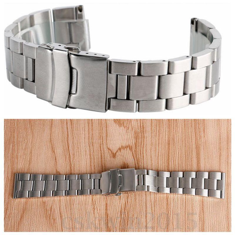 1pcs Silver Stainless Steel Watch Band Wrist Bracelet Replacement Jewellery Bracelet Accessories 20MM / 22MM / 24MM1pcs Silver Stainless Steel Watch Band Wrist Bracelet Replacement Jewellery Bracelet Accessories 20MM / 22MM / 24MM