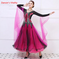 Ballroom Dancing Dress Newest Design Woman Modern Waltz Tango Dance Dress Standard Sexy Dress Lady Dancing Performance Clothes