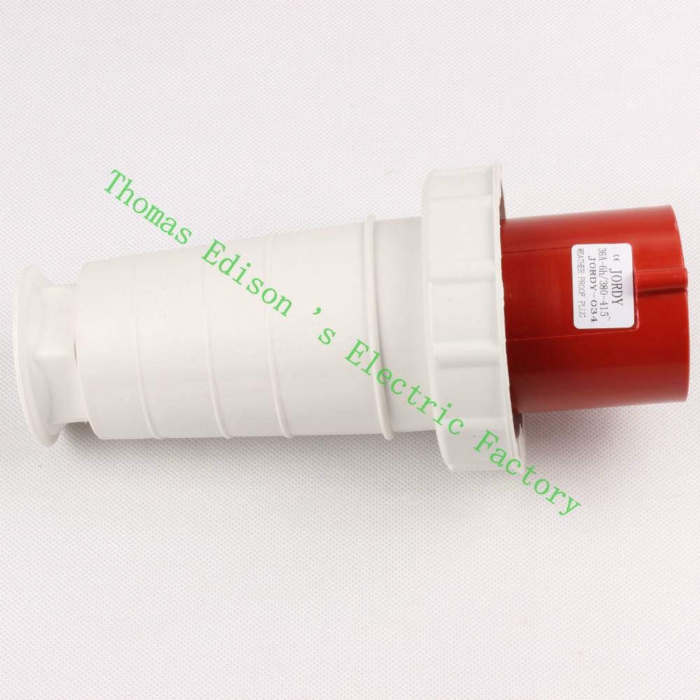 Industrial Plug Socket Coupler 034 CNQD-034 Red 63A 220V~415V 3P+E 4pin 10PCS/carton high quality ac 360 415v 16a ie 0140 4p e free hanging industrial plug red white