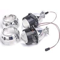 2pc bi-xenon lens with Shroud 2.5inch projector lens for H4 H7 Bixenon bi-xenon lens H1,H11,9005,9006 car hid headlight