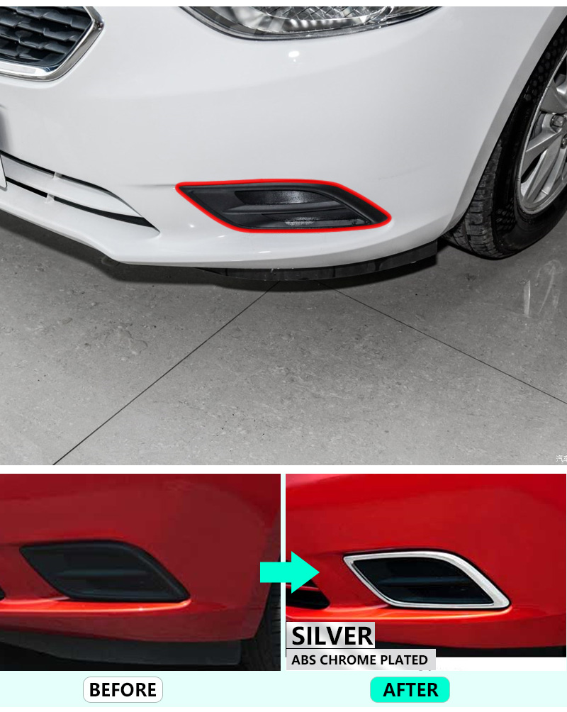 for Chevrolet New Sail High Quality Chrome Front Fog Lamp Cover 2015 2016 2017 2018 Sail 3 Accessories Car Styling Stickers