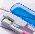 Free Shipping !! 2016 NEW Portable Travel Mini Plastic Battery UV Toothbrush Sterilizer Tooth Brush Cleaner Sanitizer Case Box