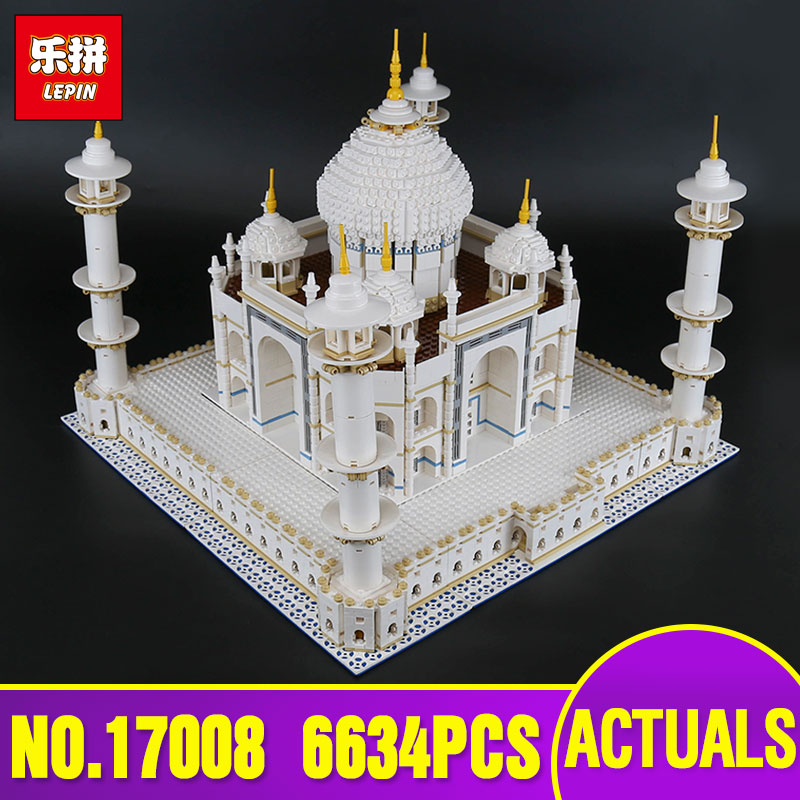 LEPIN 17008 6633pcs The Tai Mahal Model Building Kits Brick Blocks Toy Compatible 10189 Children Educational Funny model as Gift lepin17001 city street tai mahal model building blocks kids brick toys children christmas gift compatible 10189 educational toys