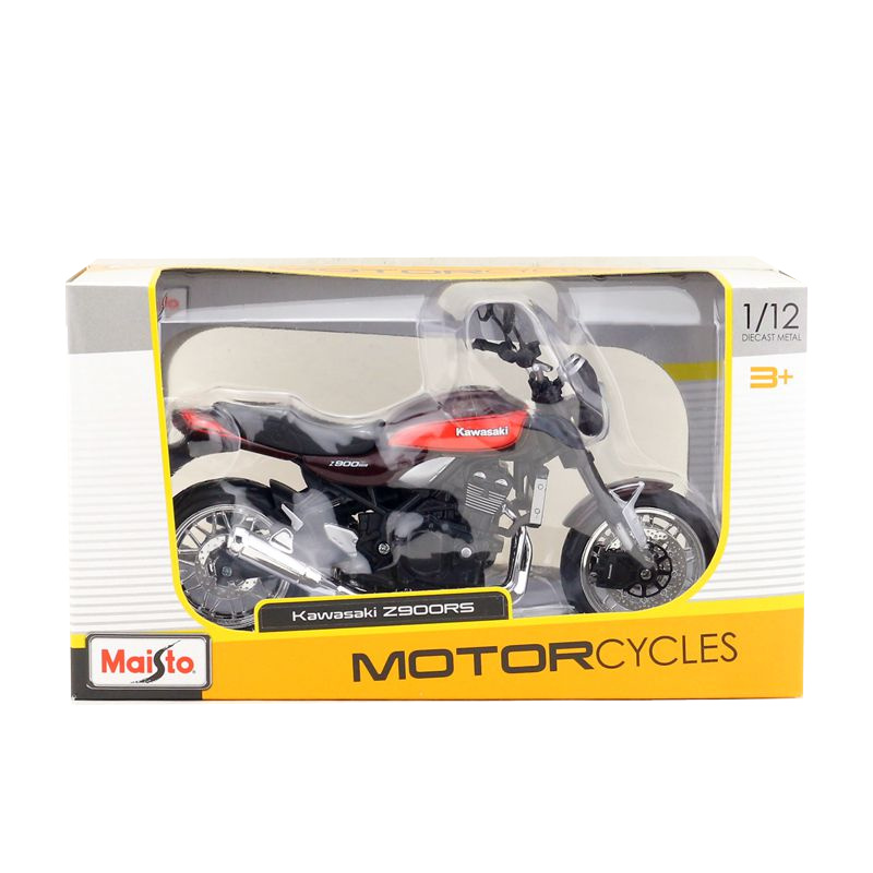 MAISTO <font><b>1/12</b></font> Scale <font><b>Motorcycle</b></font> <font><b>Model</b></font> Toys KAWASAKI Z900 RS Diecast Metal Motorbike <font><b>Model</b></font> Toy For Collection,Gift,Kids image
