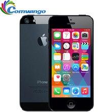 """Apple iPhone 5 16G rom WCDMA мобильный телефон двухъядерный 1G ram 4,"""" 8MP камера wifi gps IOS 7-IOS 9 дополнительный смартфон"""