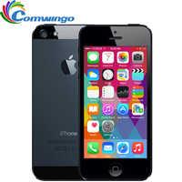 "Original Apple iPhone 5 16G ROM WCDMA teléfono móvil Dual-core 1G RAM 4,0 ""8MP Cámara WIFI GPS IOS 7-IOS 9 opcional teléfono inteligente"