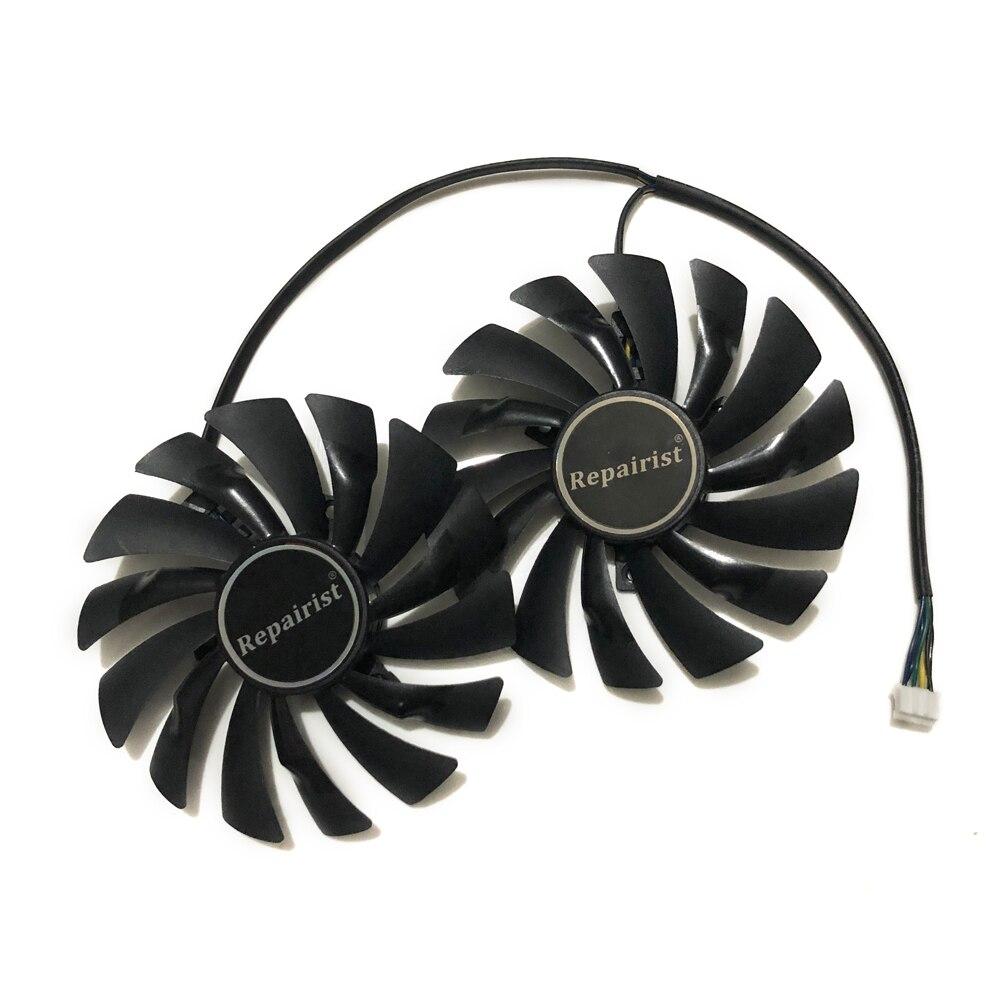 2pcs/lot computer radiator VGA cooler fan For MSI gtx 960 950 GTX950 GTX960 GAMING video Graphics Card GPU cooling 2pcs lot everflow t128010sm 75mm dc 12v 0 2a graphics card cooler fan for vga video card xfx hd6790 hd6950