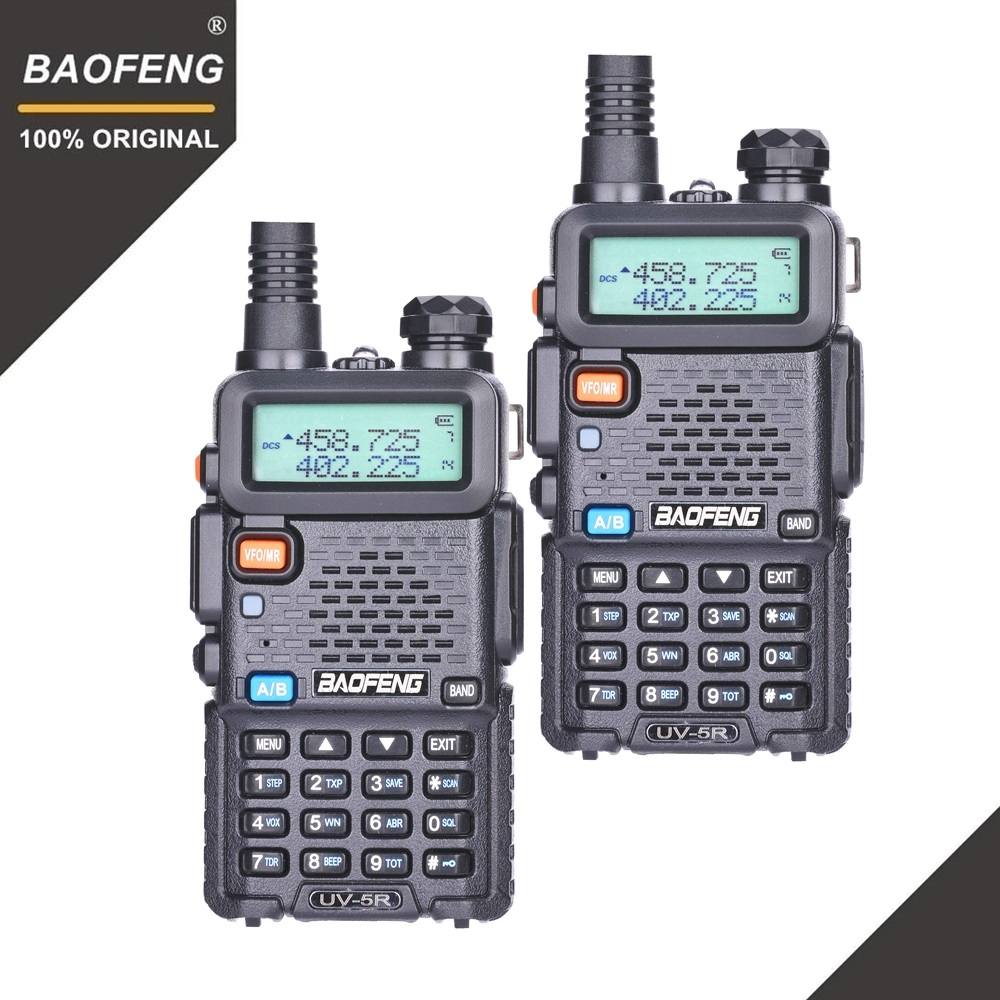 2 pz BaoFeng UV-5R Walkie Talkie VHF UHF 136-174 mhz & 400-520 mhz Dual Band Two radio bidirezionale Ham Radio UV5R Ricetrasmettitore Portatile UV 5R