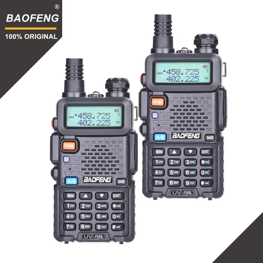 2 stücke BaoFeng UV-5R Walkie Talkie VHF UHF 136-174 mhz & 400-520 mhz Dual Band Zwei weg Radio Ham Radio UV5R Tragbare Transceiver UV 5R