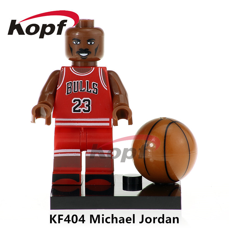Single Sale American Professional Basketball Player Michael Jordan Labron James Building Blocks Best Children Gift Toys KF404