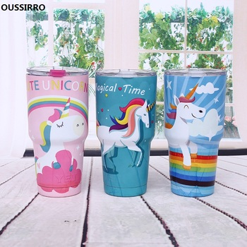 Unicorn Thermoses Big Capacity 900ml Stainless Steel Vacuum Flask Cute Travel Coffee Cup for Car Insulated Tumbler Water Bottles gift for boyfriend on anniversary