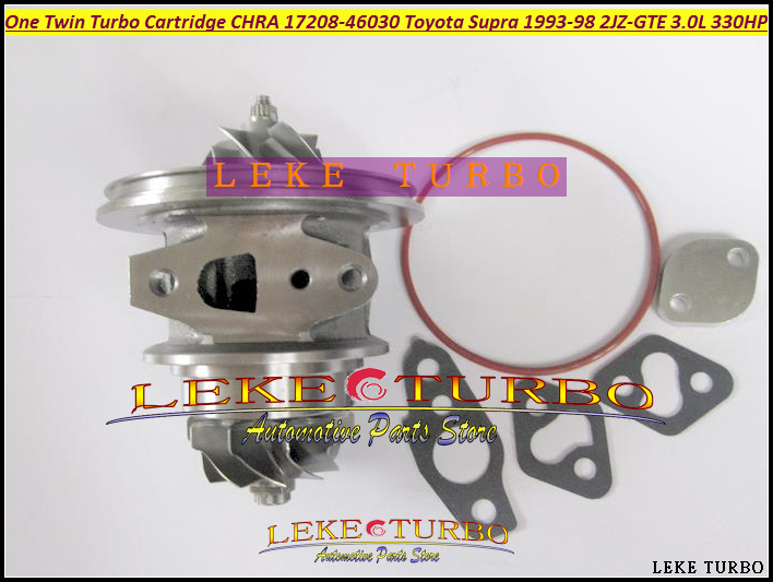 -One Twin Turbo Cartridge CHRA CT20 17208-46030 17208 46030 Turbocharger For TOYOTA Supra JZA80 1993-98 2JZ-GTE 2JZGTE 3.0L 330HP (3)