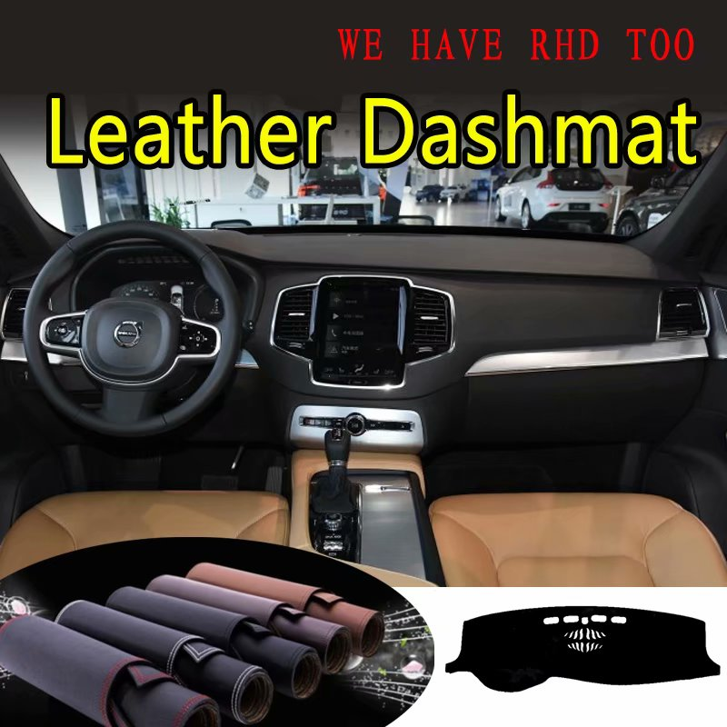 Us 45 6 24 Off For Volvo Xc90 2015 2016 2017 2018 2019 2020 Leather Dashmat Dashboard Cover Dash Mat Sunshade Carpet Custom Car Styling On