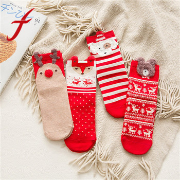 Feitong Comfortable Christmas Cotton Socks