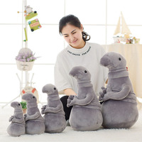 Hot Sale 20cm Waiting Plush Toy Zhdun Meme Tubby Grey Blob Zhdun Plush Doll Toys For