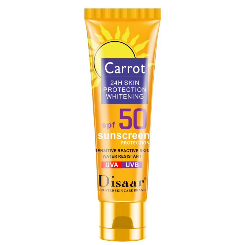 Sunblock Cream SPF 50 Carrot Sunscreen Moisturizing Skin Protective Cream Anti-Aging Oil-control Anti-UV Waterproof Face Skin