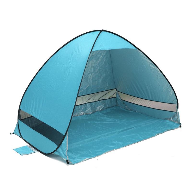 quick automatic opening beach tent sun shelter tent shade lightweight pop up open - Quick Shade