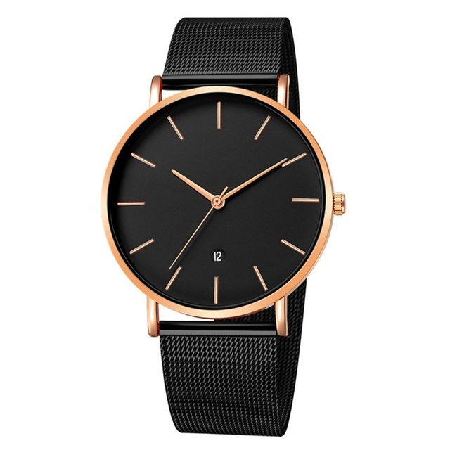 Luxury Brand 2019 New Men Watch Ultra Thin Stainless Steel Clock Male Quartz Sport Watch Men Casual Wristwatch relogio masculino 5