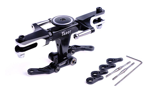 Tarot 450 Flybarless Metal Head Rotor Set TL45110-01 Tarot 450 RC Helicopter Spare Parts FreeTrack Shipping tarot tl48023 01 metal carbon fiber tail gearbox assembly tarot 450 rc helicopter spare parts freetrack shipping