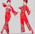 O Envio gratuito de Ano Novo Vermelho Barato Desconto Das Senhoras Das Mulheres Trajes de Dança Traje Nacional Chinês Tradicional Chinesa Antiga