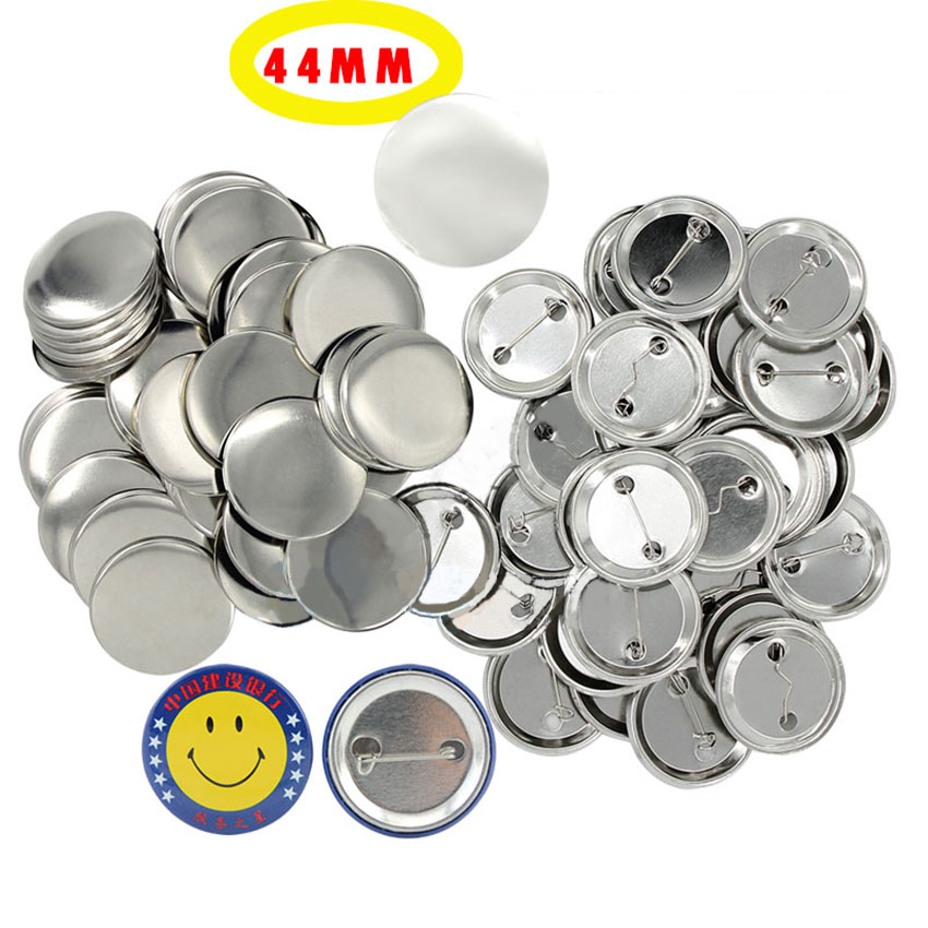100set/pack <font><b>44mm</b></font> Badge Making Materials DIY Supplies Crafts <font><b>Pin</b></font> Badge Pinback <font><b>Button</b></font> Badges Blank Parts Metal Bottom image