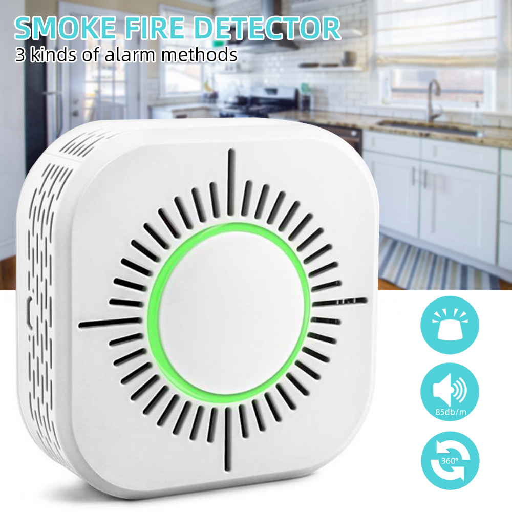 1PCs Smoke Fire Detector 360 Degree Wireless Fire  Smoke Detector Portable Alarm Sensors For Home Office Security