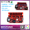 Longgreat  TF-C6UR controller card TF-C3U led control card 128*1024 pixel USB+SERIAL port rgb for p6 p8 p10 led graphics screen
