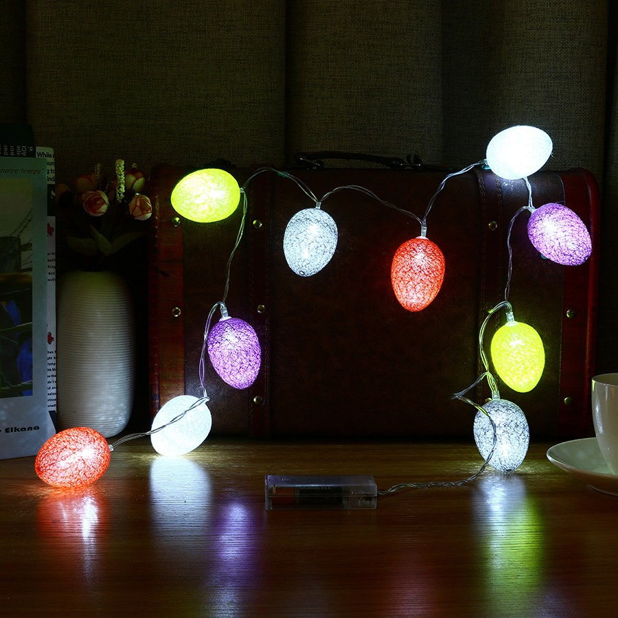 Outdoor Easter Lights Easter eggs fairy string lights lamp 18m 10 led cotton light eggs easter eggs fairy string lights lamp 18m 10 led cotton light eggs balls party outdoor wedding decoration supplies ornament in party diy decorations from workwithnaturefo