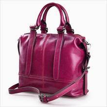 Fashion New Genuine Leather Handbag High Capacity Shoulder Bags For Women Belt Buckles Shopping Tote
