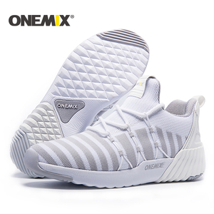Image 5 - ONEMIX New Running Shoes women warm height increasing shoes winter sports shoes for women Outdoor Unisex Athletic Sport Shoes