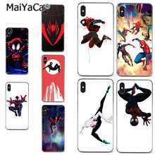 MaiYaCa Spider Man เป็น Spider Verse Soft สำหรับ iPhone 11 PRO MAX 8 7 6 6S PLUS X XR XS MAX 5S SEcase(China)