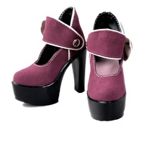 [wamami] 52# Purple 1/3 DOD AOD SD BJD Dollfie High Heels Synthetic Leather Shoes