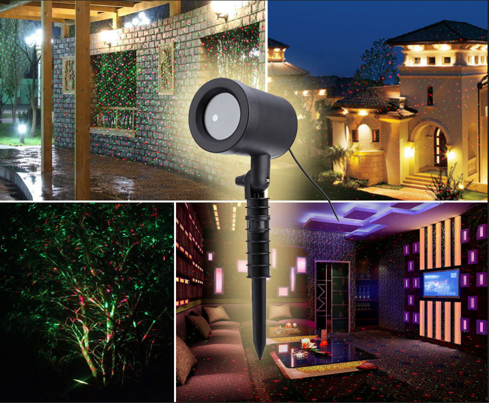 Outdoor Christmas Laser Projector Sky Star Stage Spot Light Showers Landscape